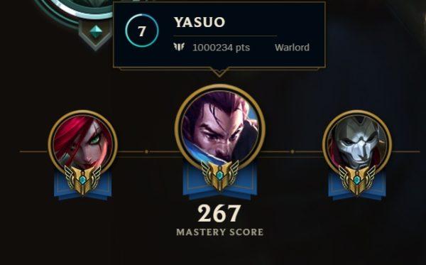 yasuo main mastery 7 level photo